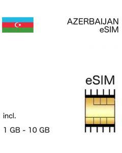 eSIM Azerbaijan - incl. 1 GB -10 GB - no ID required