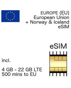 Europe eSIM (embedded SIM)