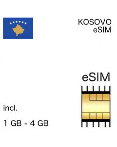 Kosovo eSIM incl. 1GB - 10 GB (7-30 days)