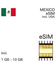 Mexico eSIM incl. USA - no ID required