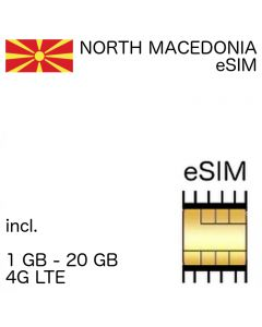 North Macedonia eSIM (embedded SIM)