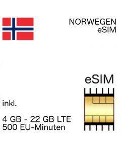 Norwegen eSIM (embedded SIM)
