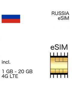 Russia eSIM incl. 1- 10 GB