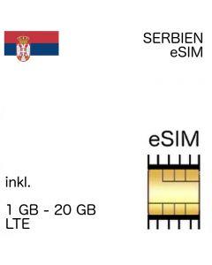 Serbien eSIM (embedded SIM)