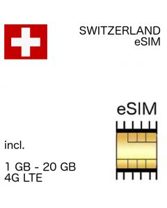 Switzerland eSIM (no ID required) 1-10 GB up to 30 days