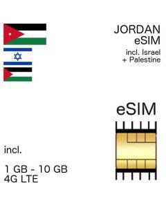 eSIM Jordan incl. Israel + Palestine