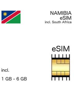 eSIM Namibia incl. South Africa