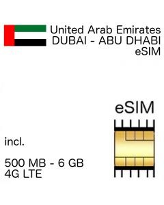 United Arab Emirates eSIM (embedded SIM)