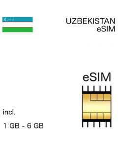 eSIM Uzbekistan incl. 1GB - 6GB - no ID required