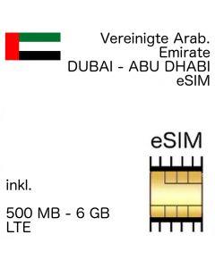 Vereinigte Arabische Emirate eSIM (Dubai, Abu Dhabi)